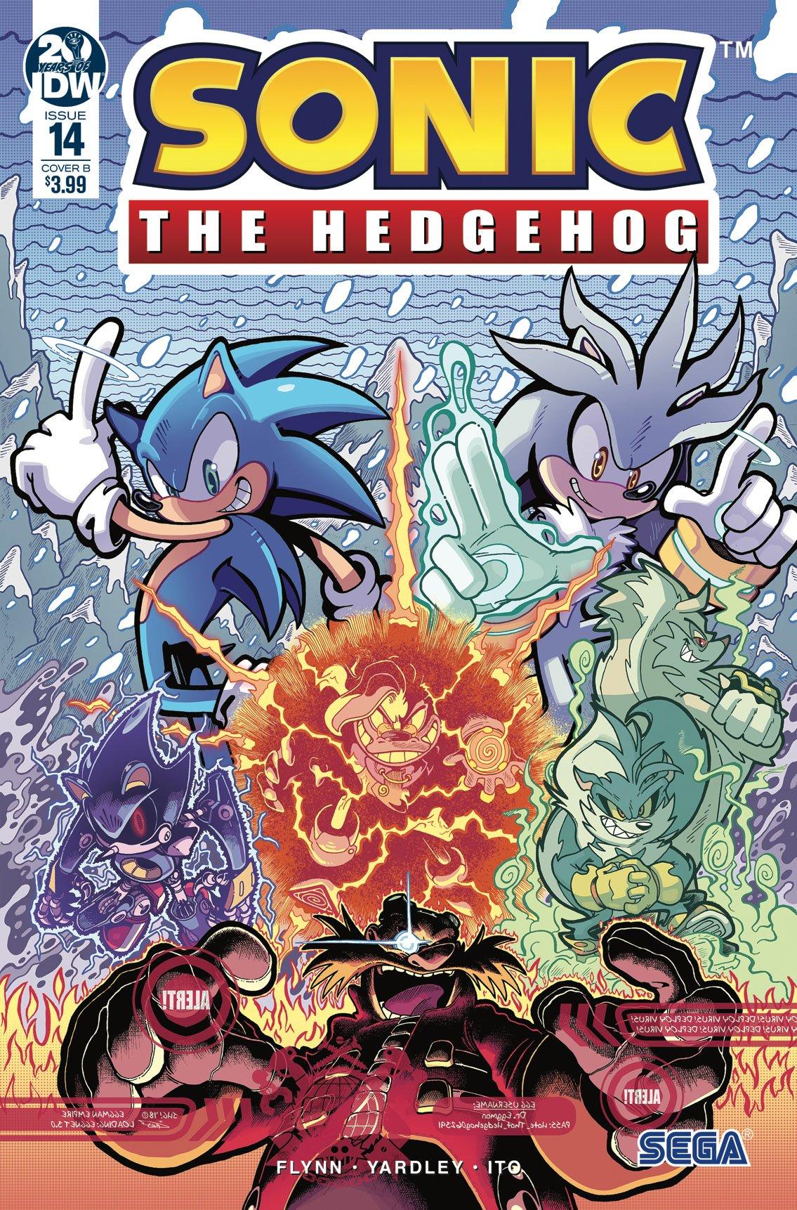 Sonic the Hedgehog 014 (February 2019) (cover b)