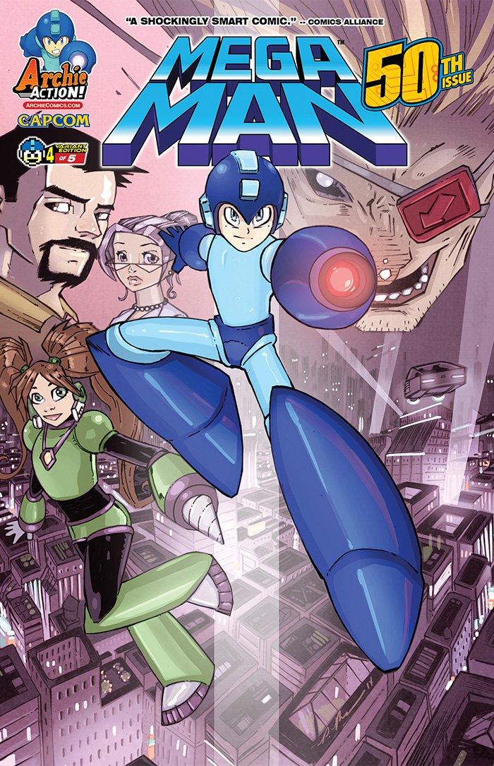 Mega Man 050 (August 2015) (variant 4)