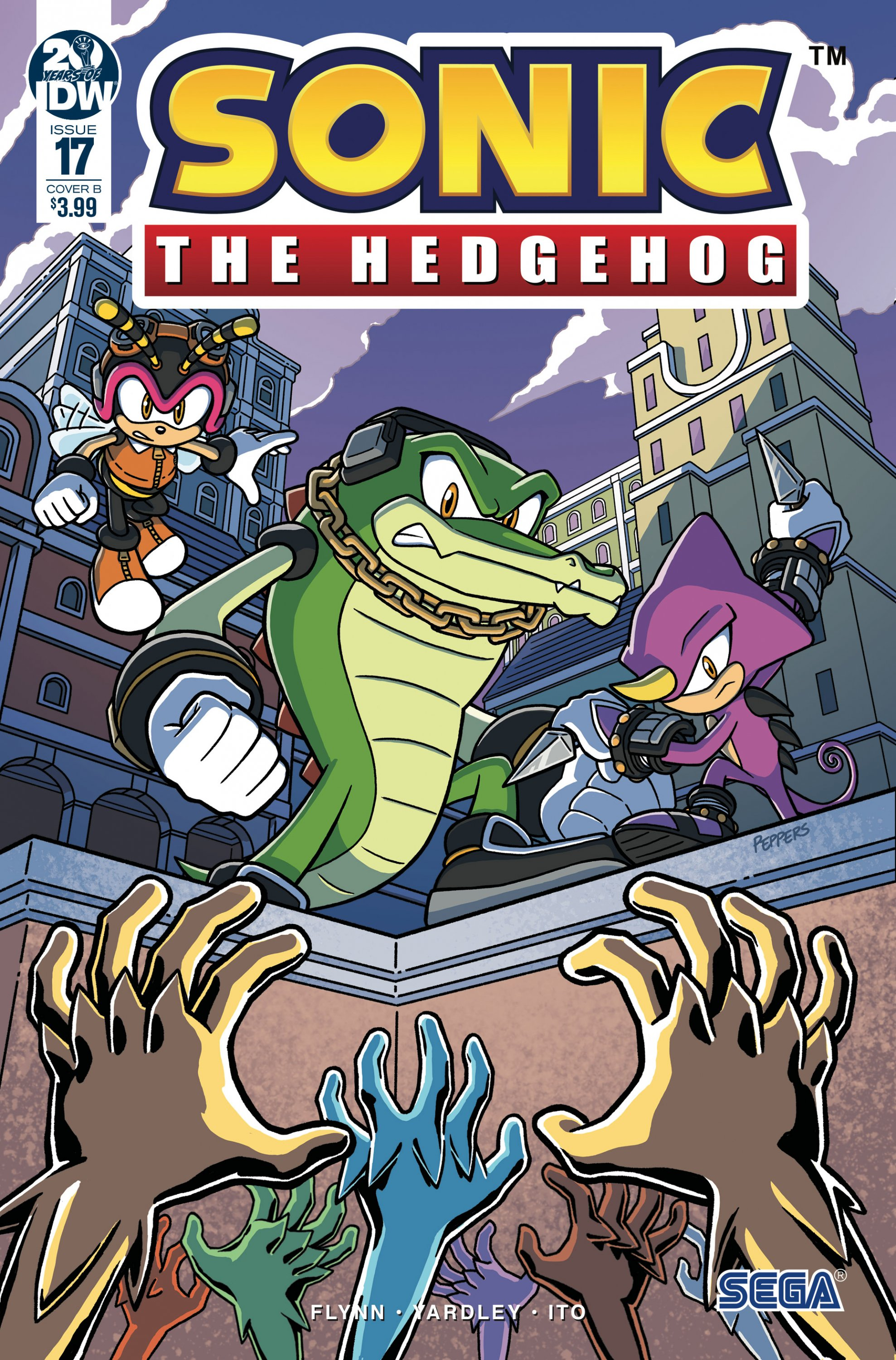 Sonic the Hedgehog 017 (May 2019) (cover b)
