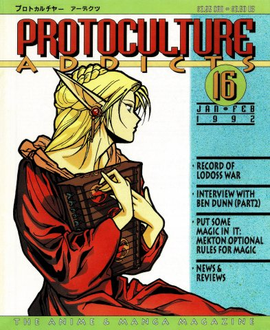 Protoculture Addicts Issue 16 (January-February 1992)