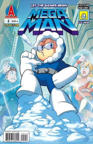 Mega Man 004 (October 2011) (villain variant)