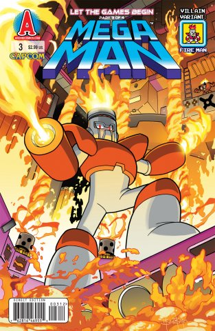 Mega Man 003 (September 2011) (villain variant)