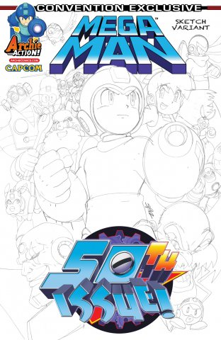 Mega Man 050 (August 2015) (convention exclusive)