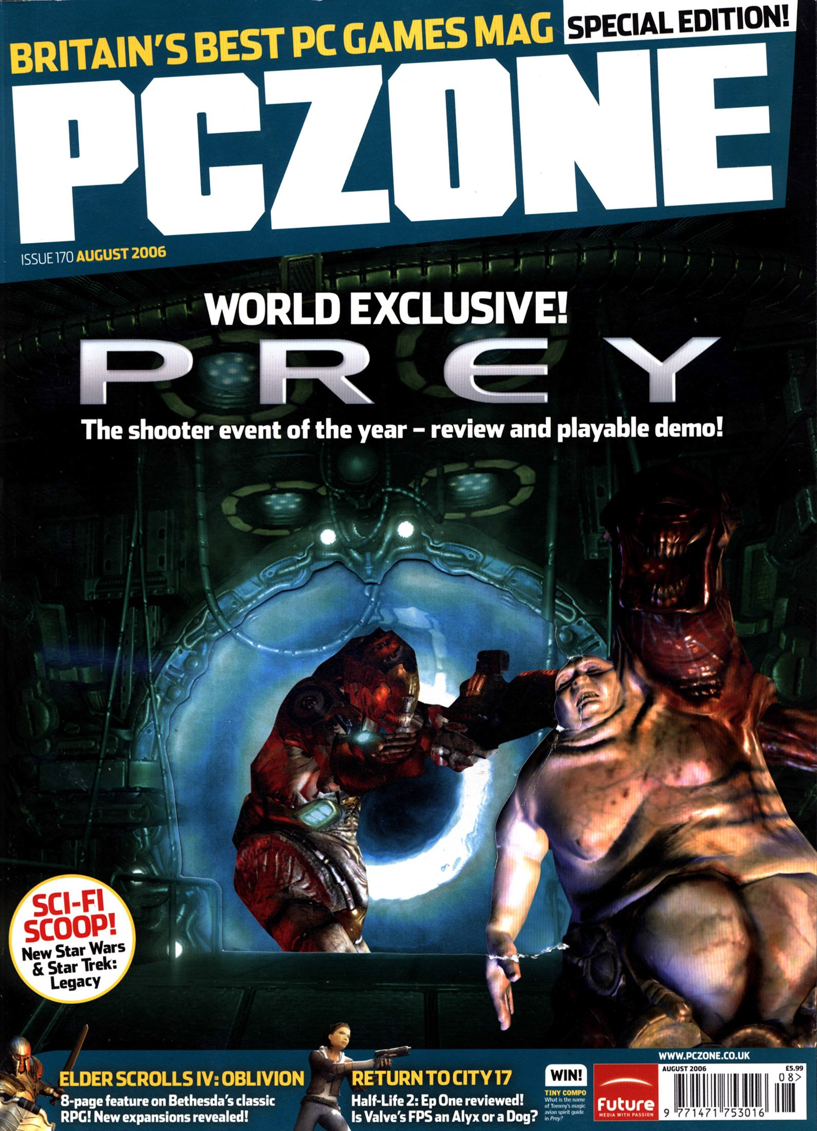 PC Zone Issue 170 (August 2006)