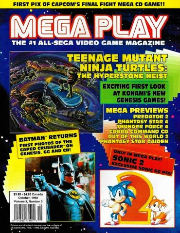 Mega Play Vol.3 No.5 (October 1992)