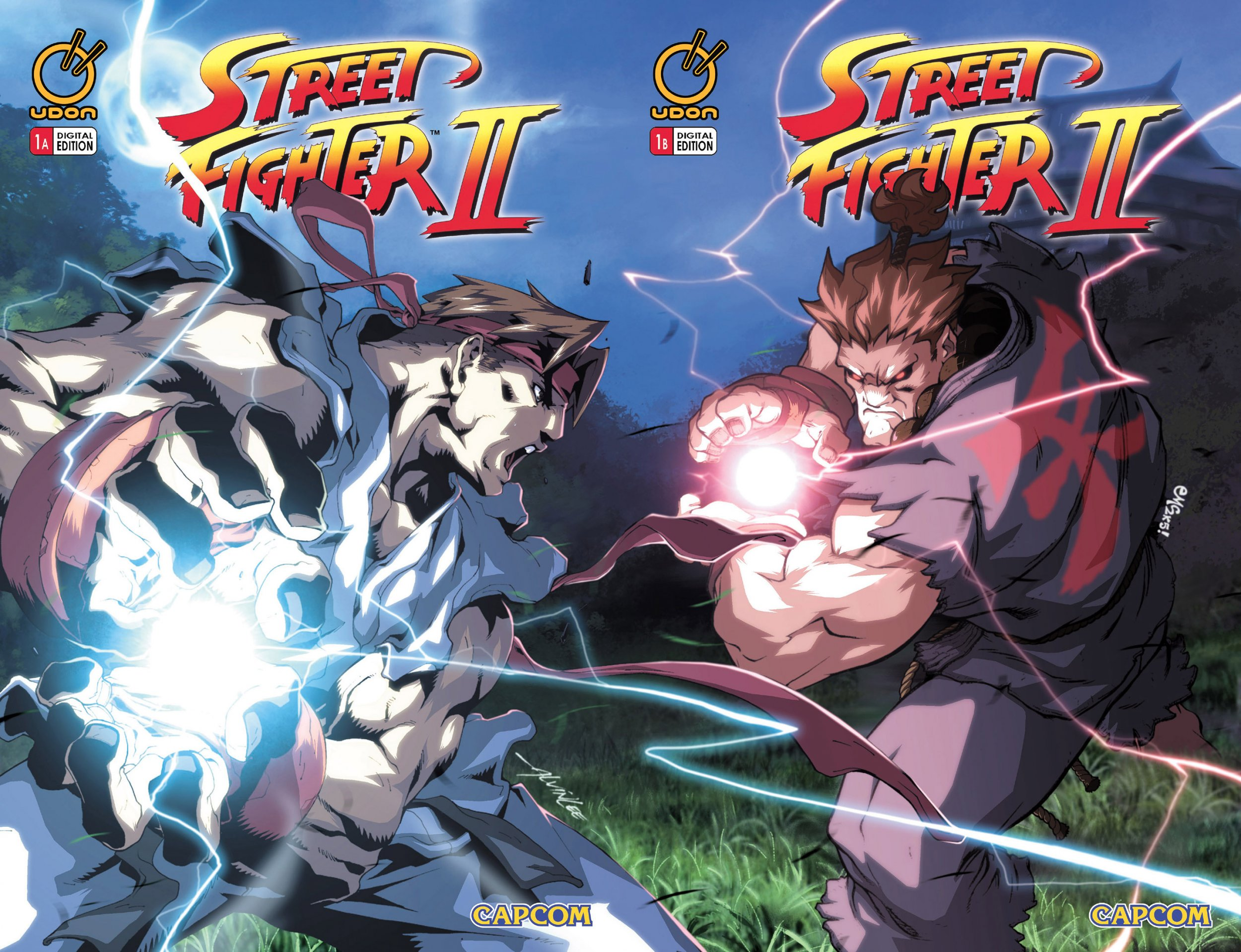 Street Fighter II Issue 1 (November 2005) (cover a&b join)