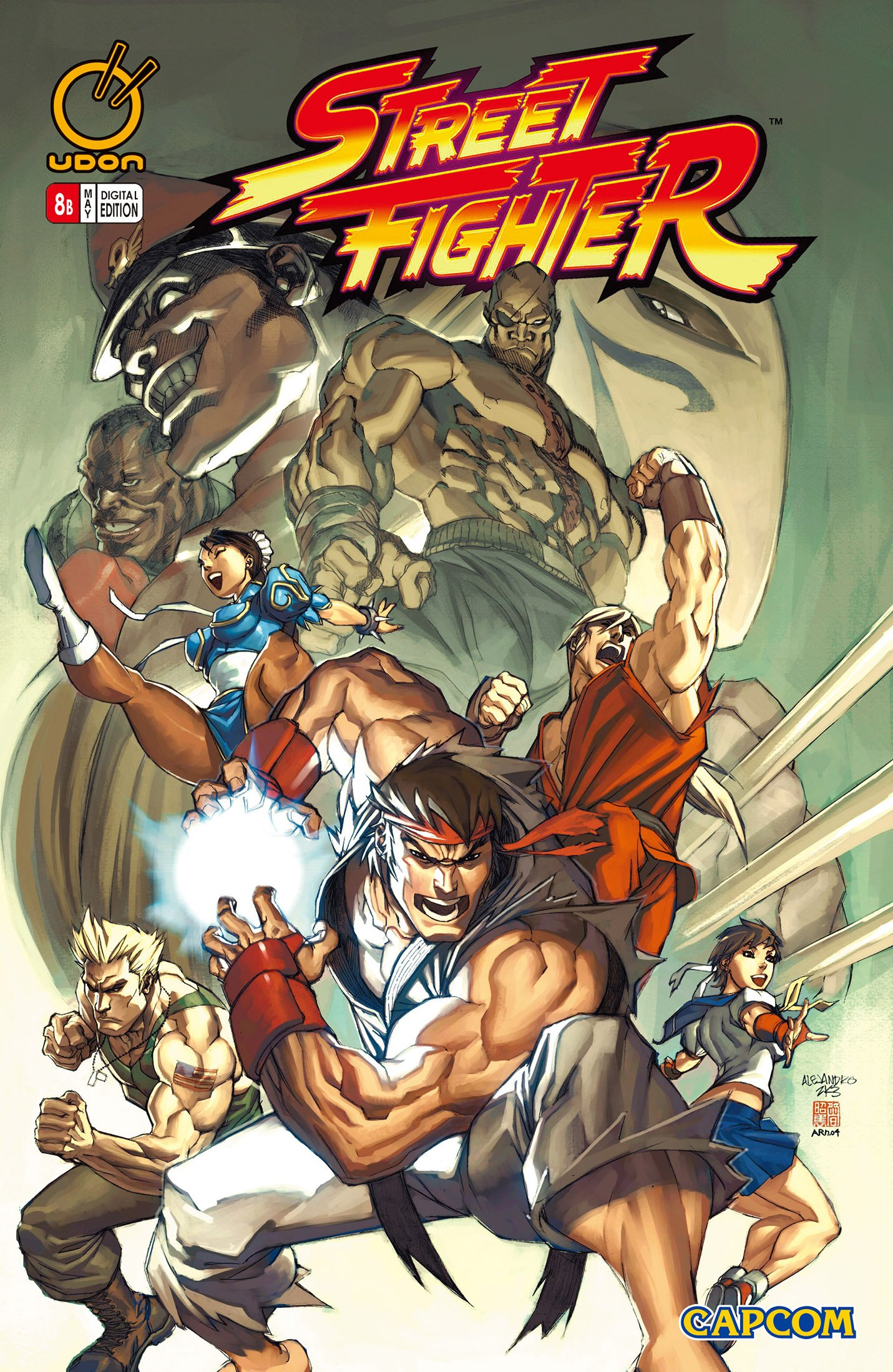 Street Fighter Vol.1 008 (May 2004) (cover b)