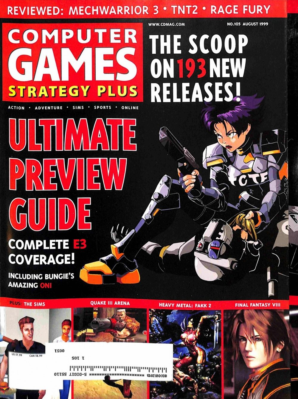 Computer Games Strategy Plus Issue 105 (August 1999)