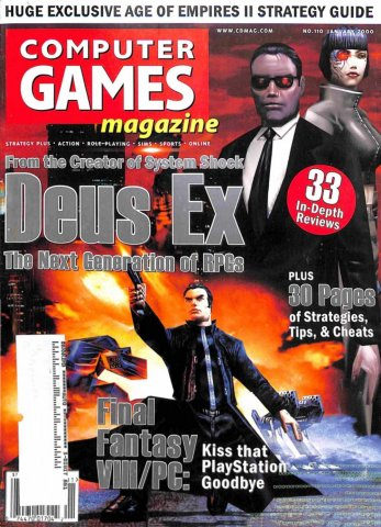 Computer Games Magazine Issue 110 (January 2000)