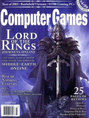 Computer Games Issue 160 (March 2004) (newsstand edition)