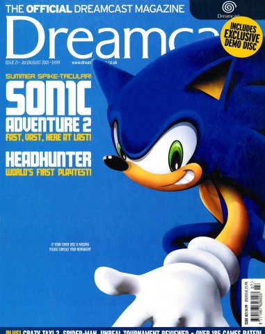 Official Dreamcast Magazine 21 (July/August 2001)