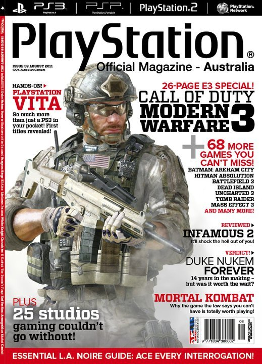 PlayStation Official Magazine Issue 058 (August 2011)