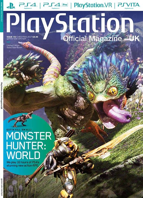 Playstation Official Magazine UK 143 (Xmas 2017) *Limited edition subscriber cover*