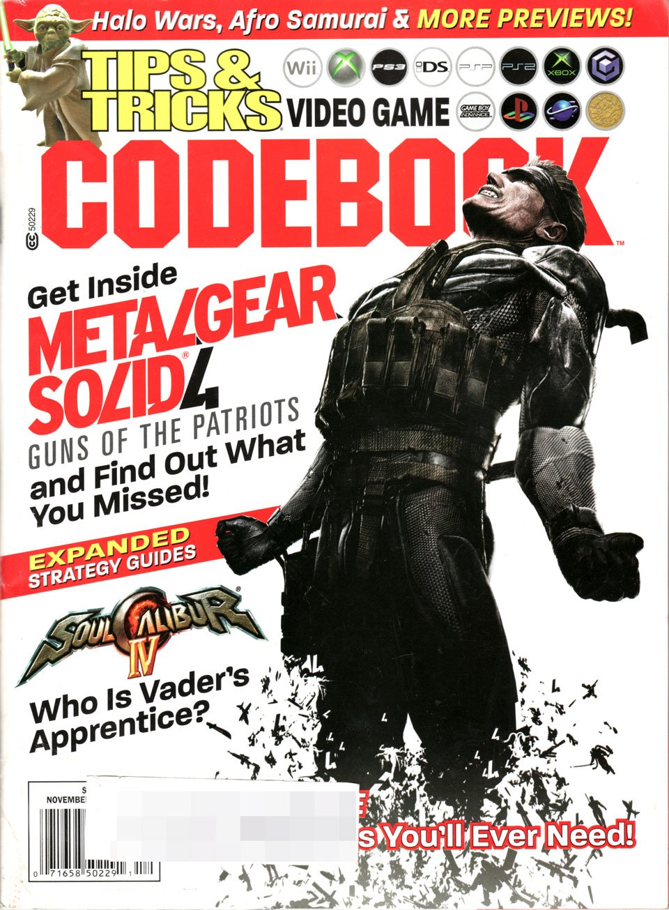 Tips & Tricks Video Game Codebook November-December 2008