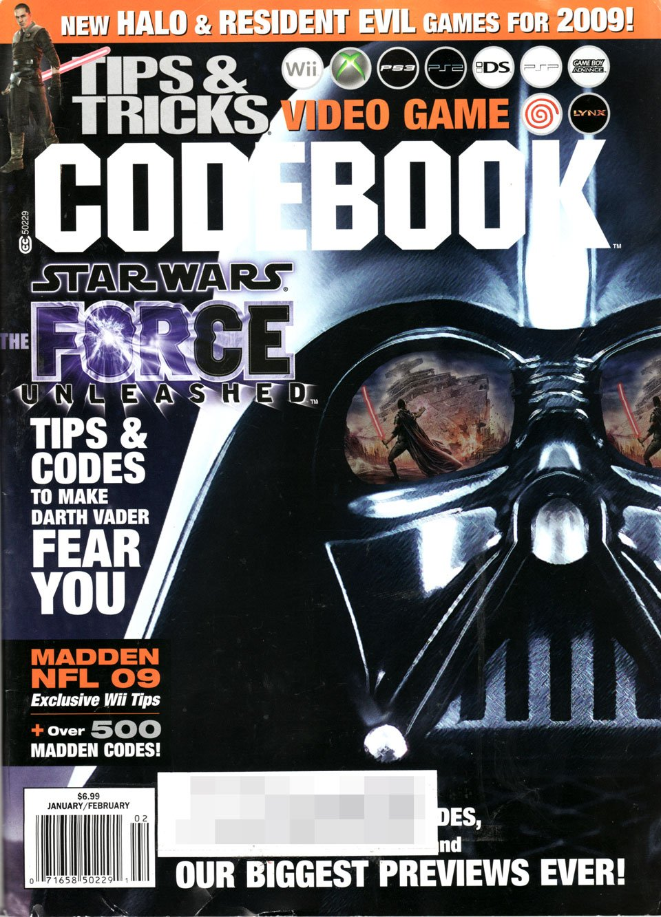 Tips & Tricks Video Game Codebook (January / February 2009)