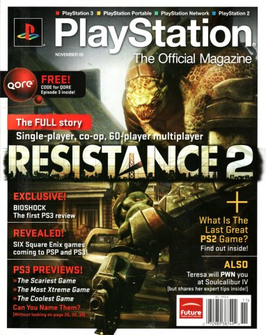 Playstation The Official Magazine (USA) Issue 013 (November 2008)