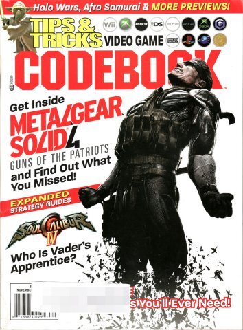Tips & Tricks Video Game Codebook November-December 2008