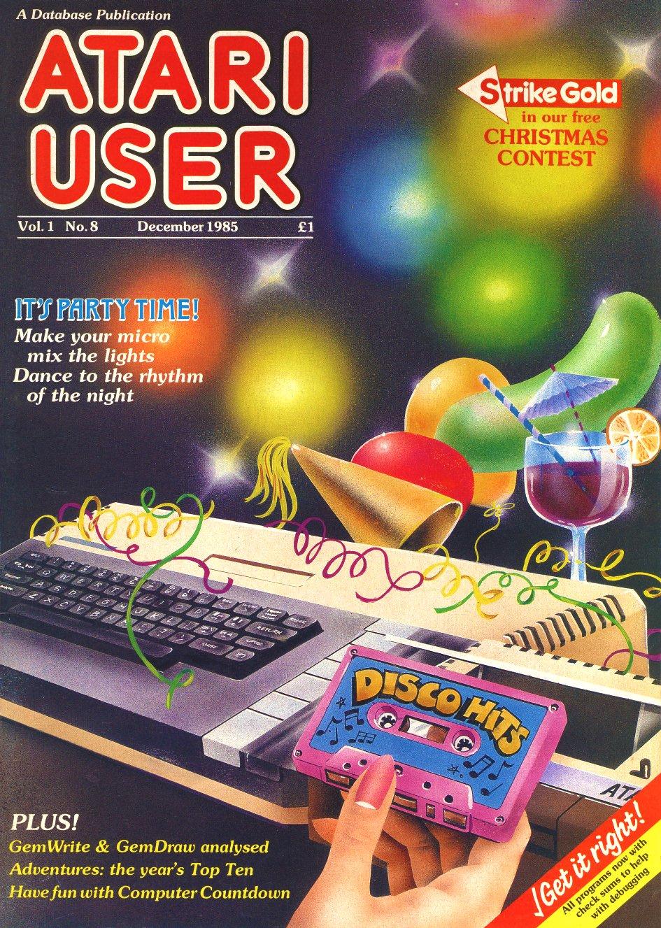 Atari User Vol. 01 No. 08 (December 1985)