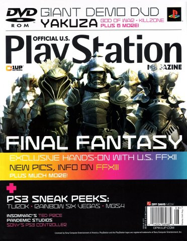 Official U.S. PlayStation Magazine Issue 107 (August 2006)