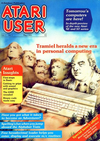 Atari User Vol. 01 No. 01 (May 1985)