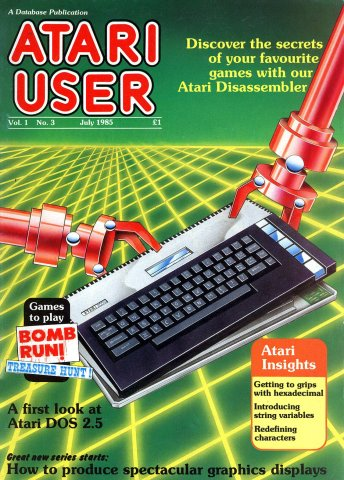 Atari User Vol. 01 No. 03 (July 1985)