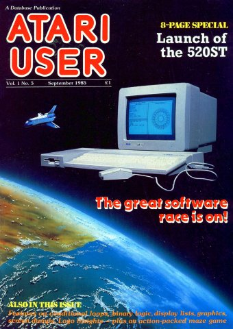 Atari User Vol. 01 No. 05 (September 1985)