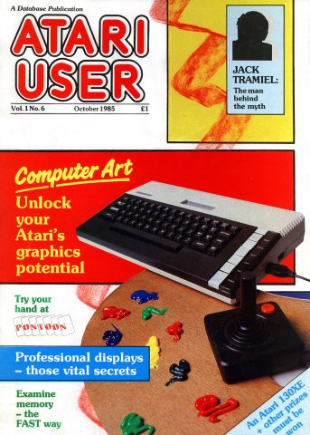 Atari User Vol. 01 No. 06 (October 1985)