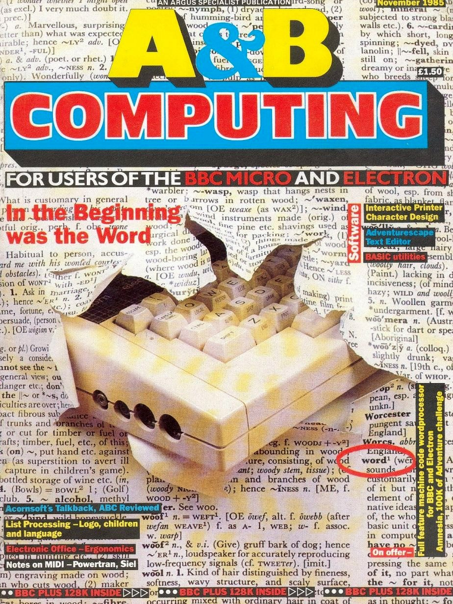 A&B Computing Vol.2 No.11 (November 1985)