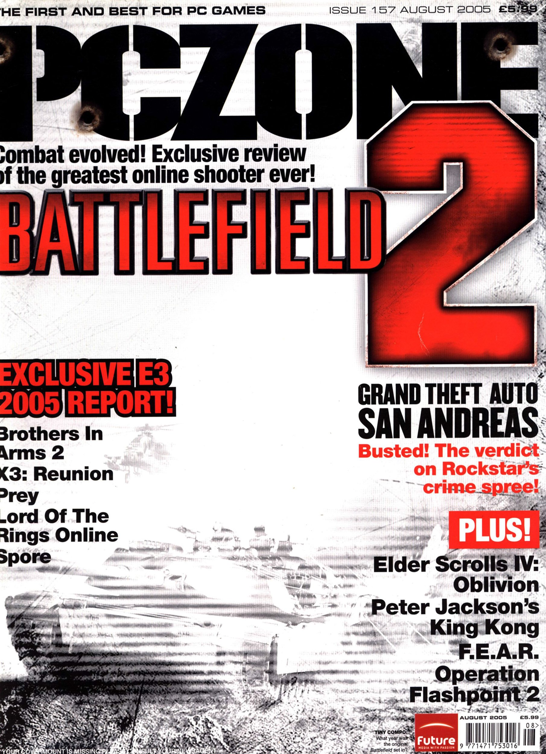 PC Zone Issue 157 (August 2005)