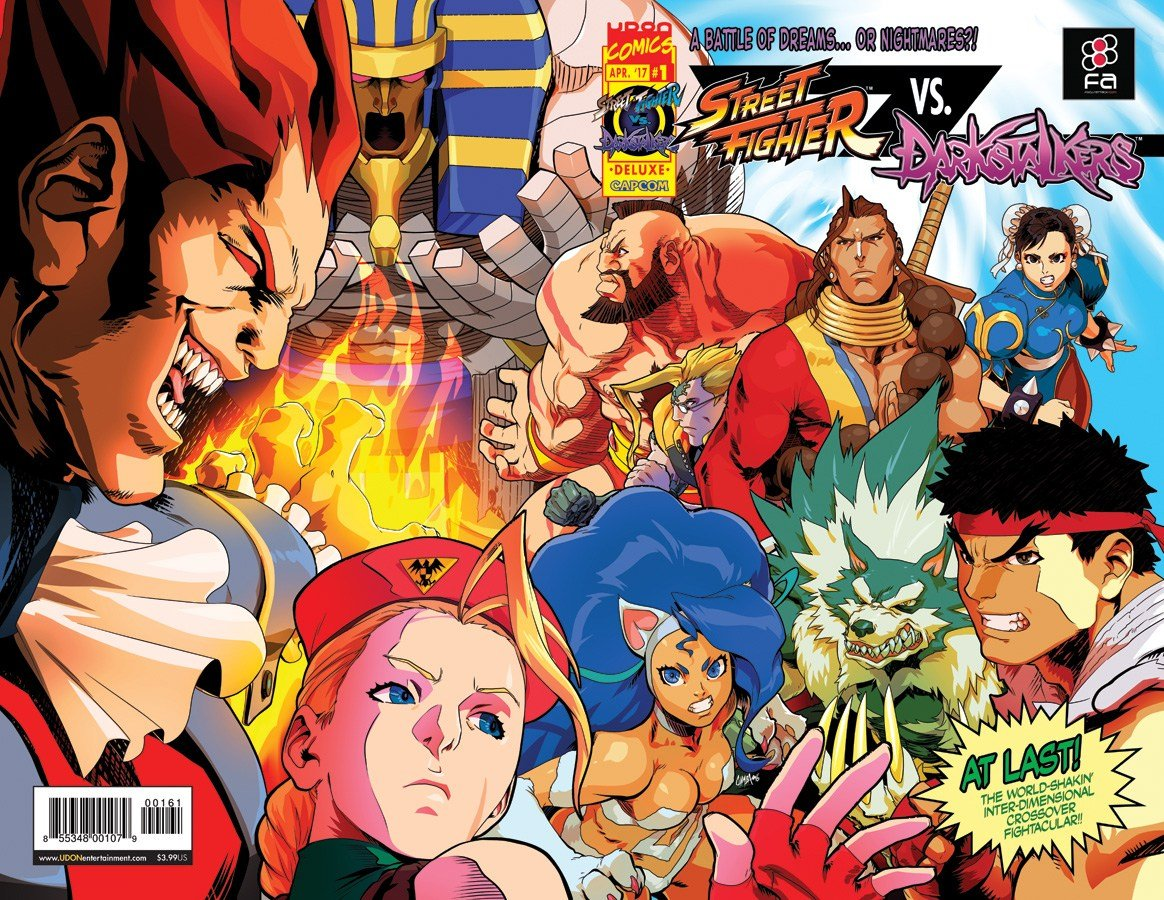 Street Fighter VS Darkstalkers 001 (April 2017) (Focus Attack variant)