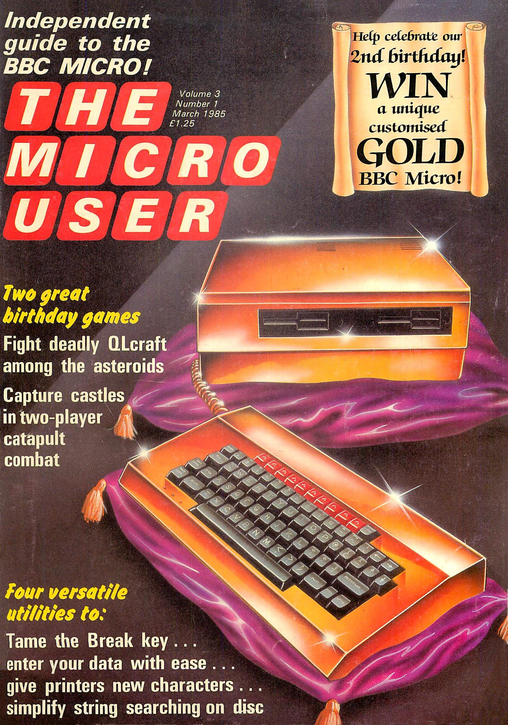The Micro User Vol.03 No.01 (March 1985)