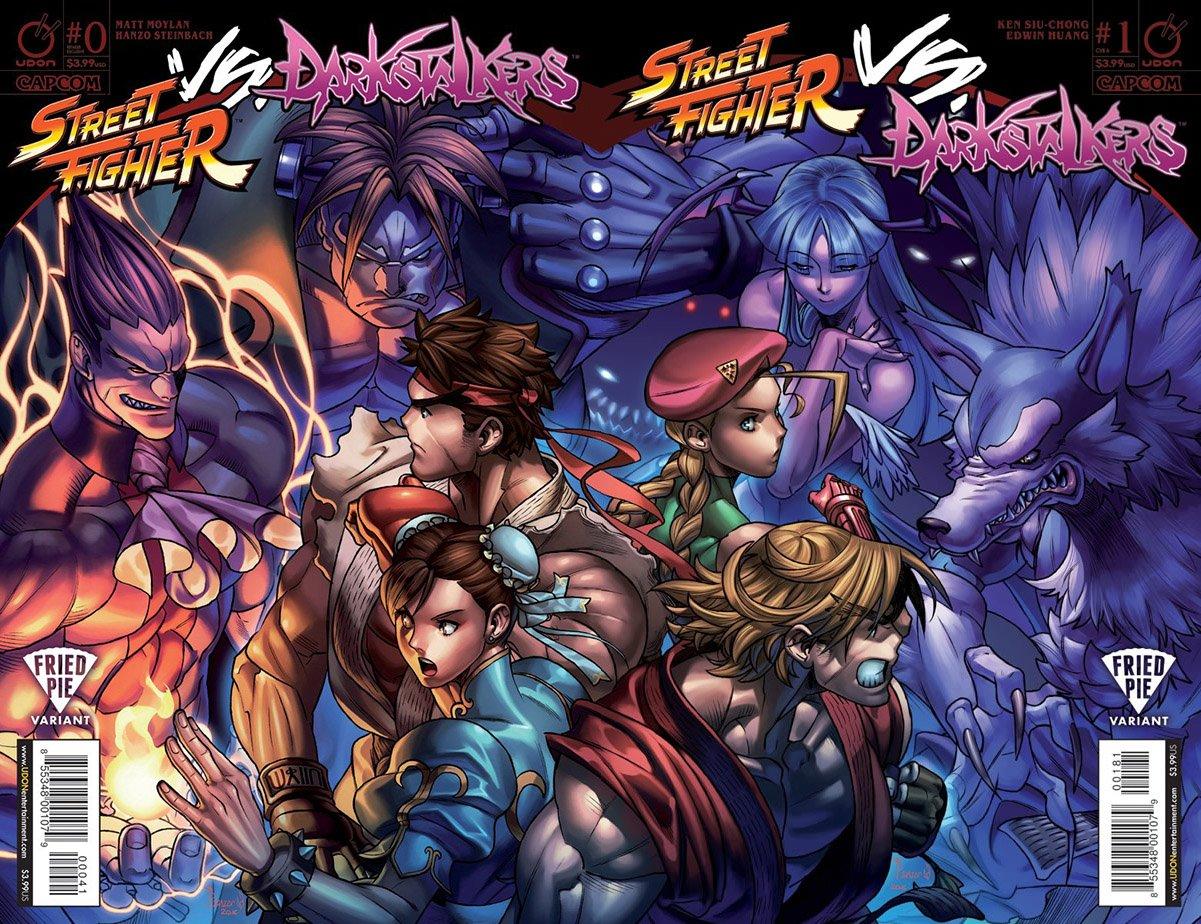 Street Fighter VS Darkstalkers 000-001 (Fried Pie variant cover join)