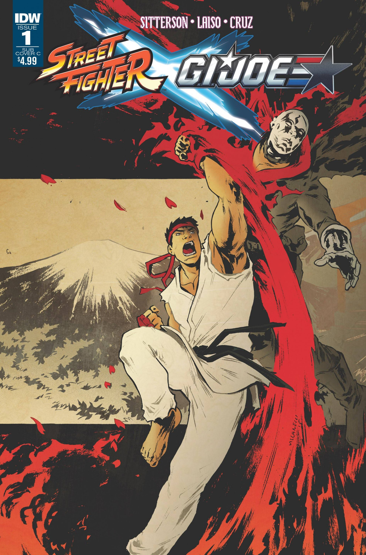 Street Fighter X G.I. JOE 001 (February 2016) (Paolo Villanelli Subscription Cover C variant)