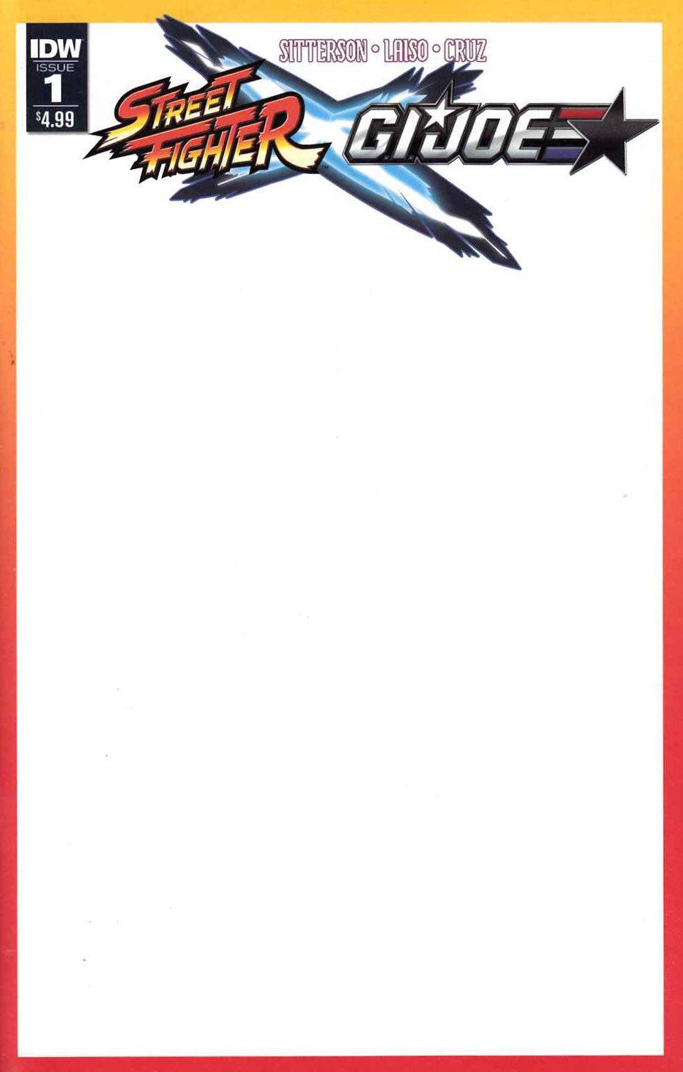 Street Fighter X G.I. JOE 001 (February 2016) (sketch cover)