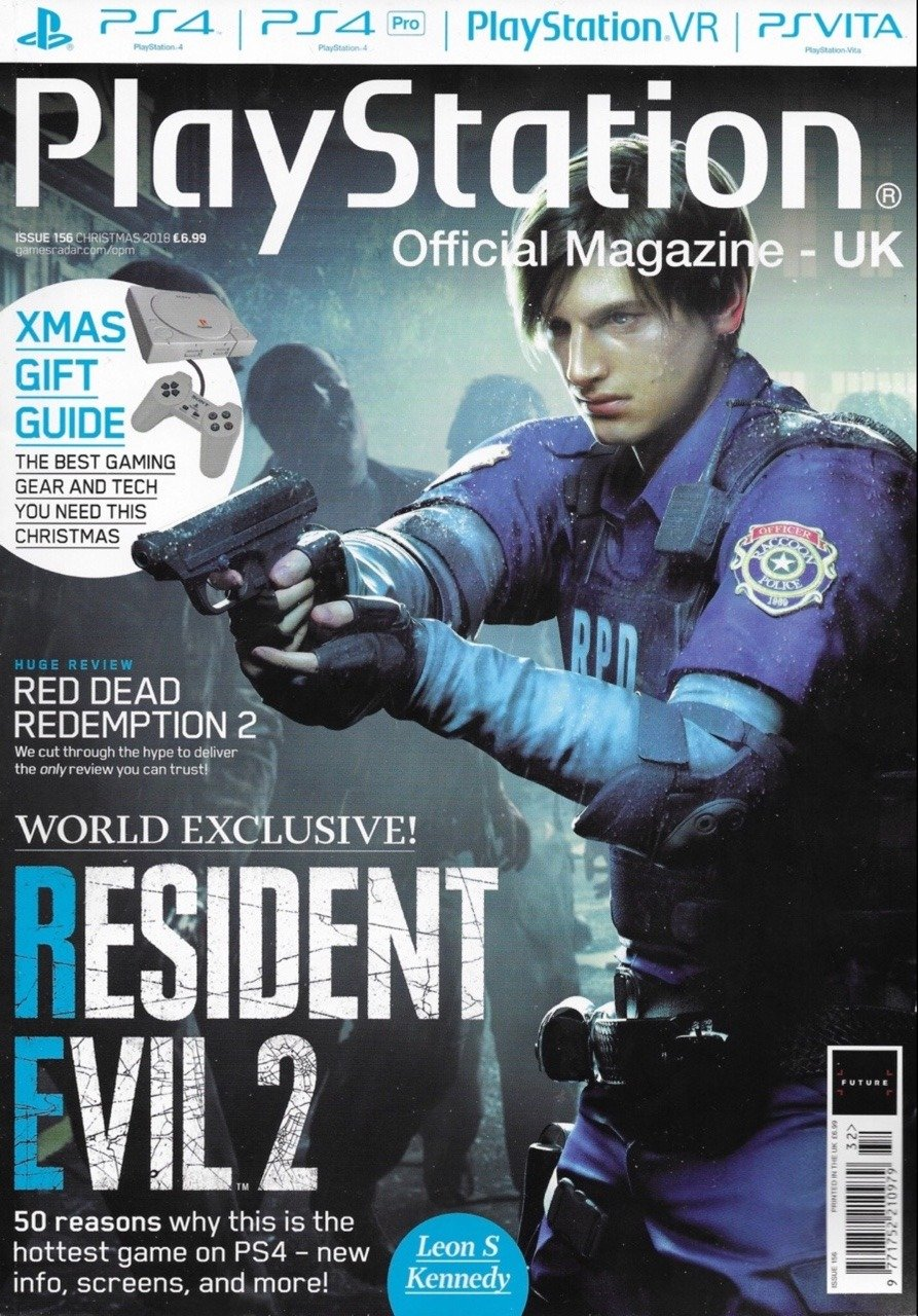 Playstation Official Magazine UK 156 (Christmas 2018) *Leon cover*