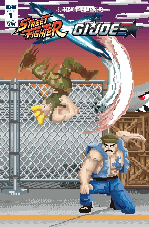 Street Fighter X G.I. JOE 001 (February 2016) (Matthew Waite Subscription Cover B variant)