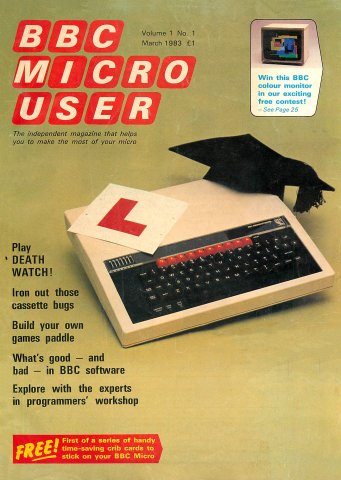 BBC Micro User Vol.01 No.01 (March 1983)