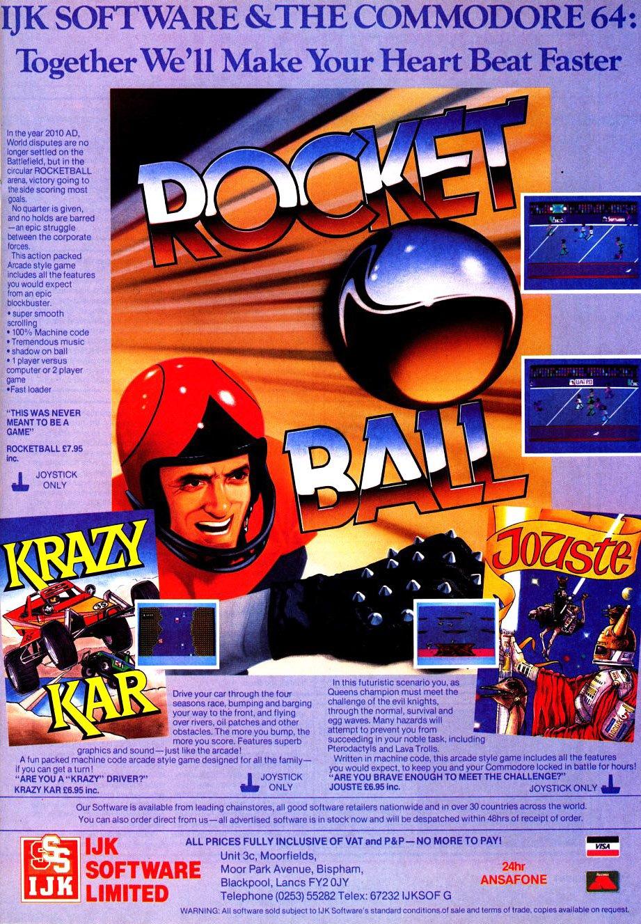 Rocketball, Krazy Kar, Jouste