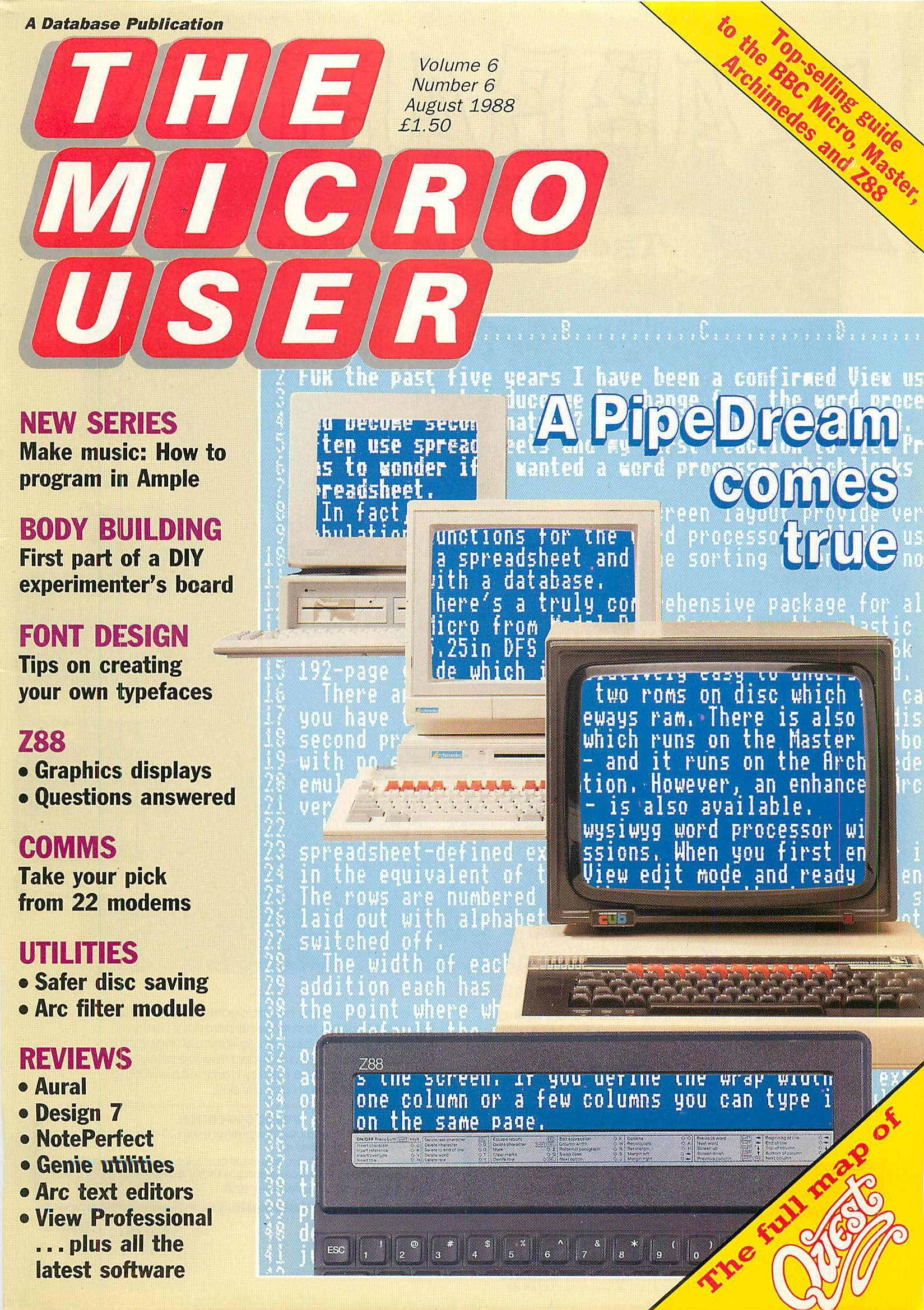 The Micro User Vol.06 No.06 (August 1988)