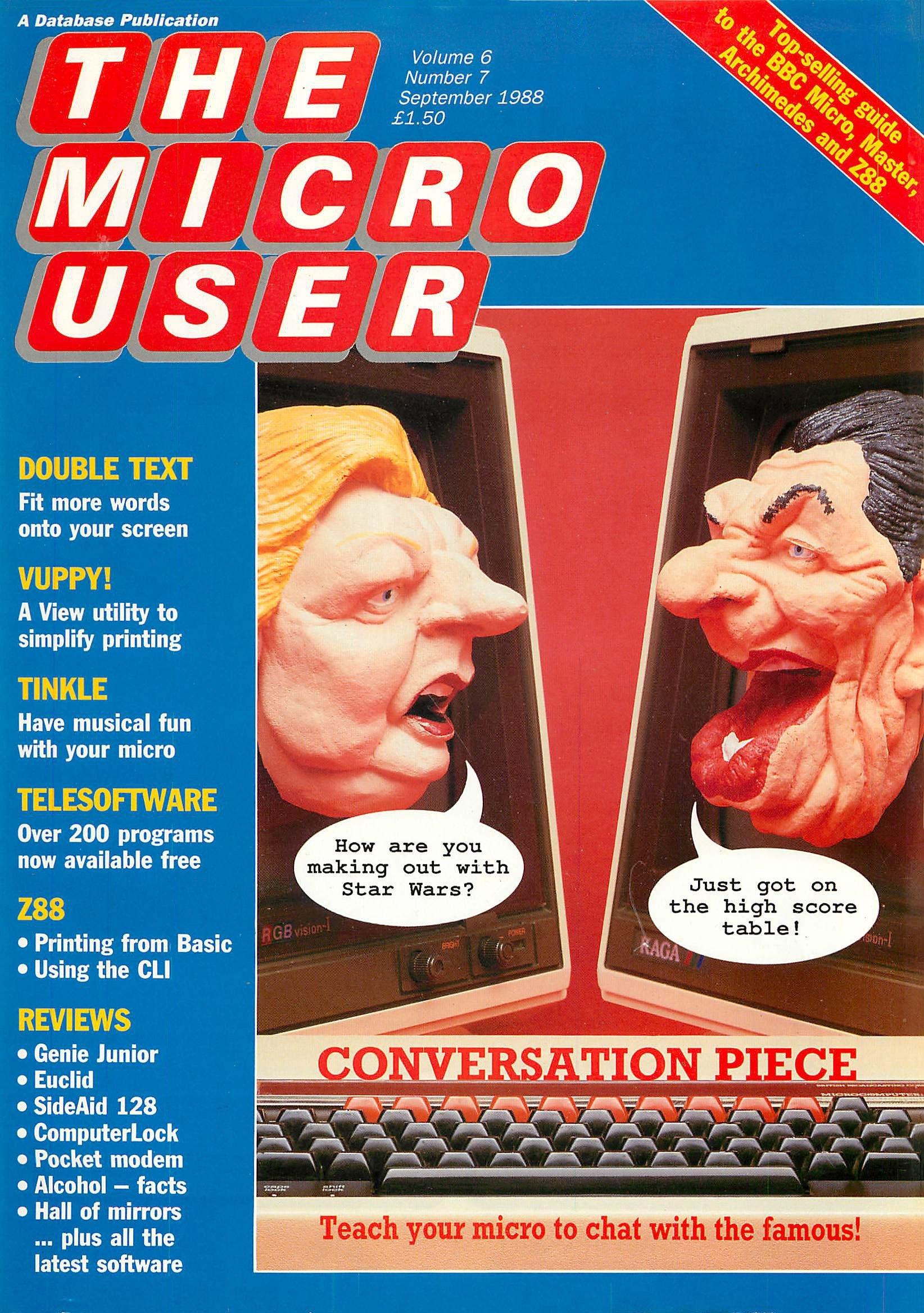 The Micro User Vol.06 No.07 (September 1988)