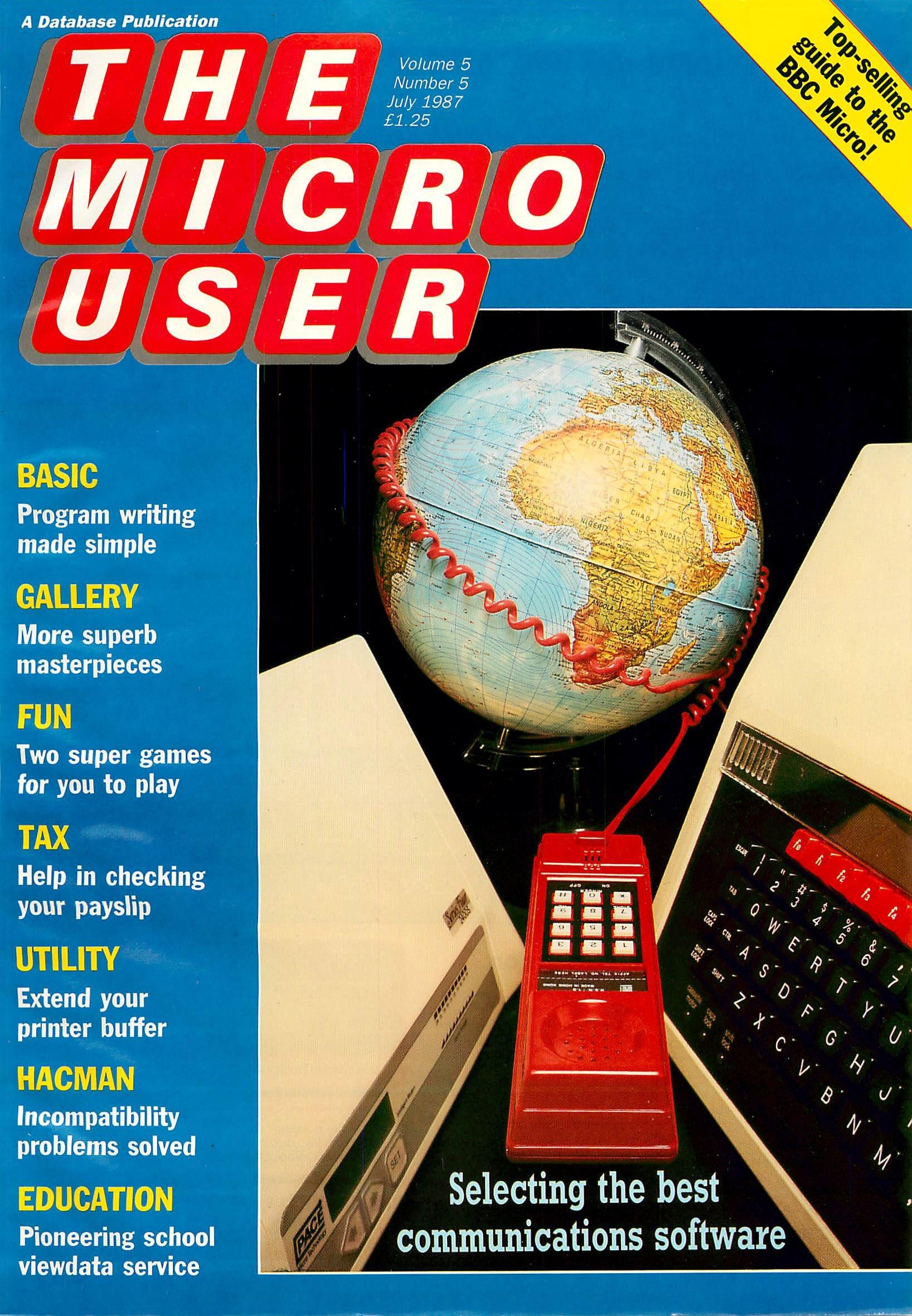 The Micro User Vol.05 No.05 (July 1987)