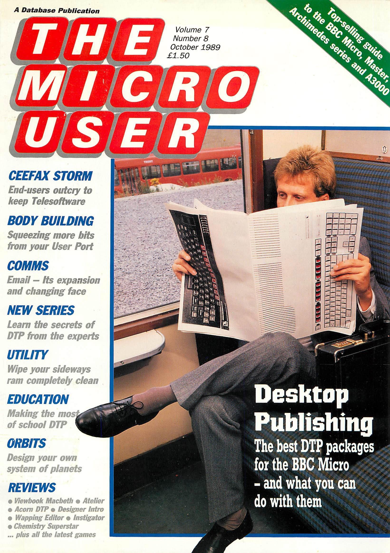 The Micro User Vol.07 No.08 (October 1989)