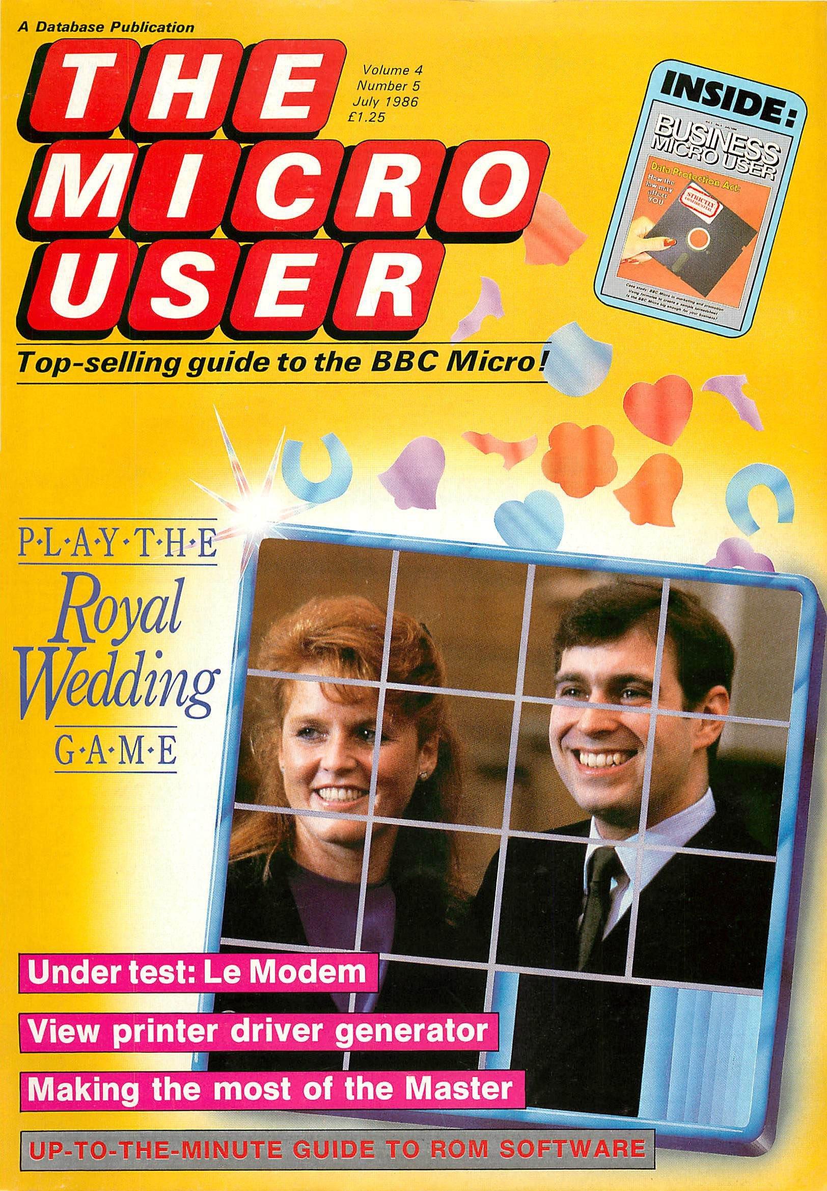 The Micro User Vol.04 No.05 (July 1986)