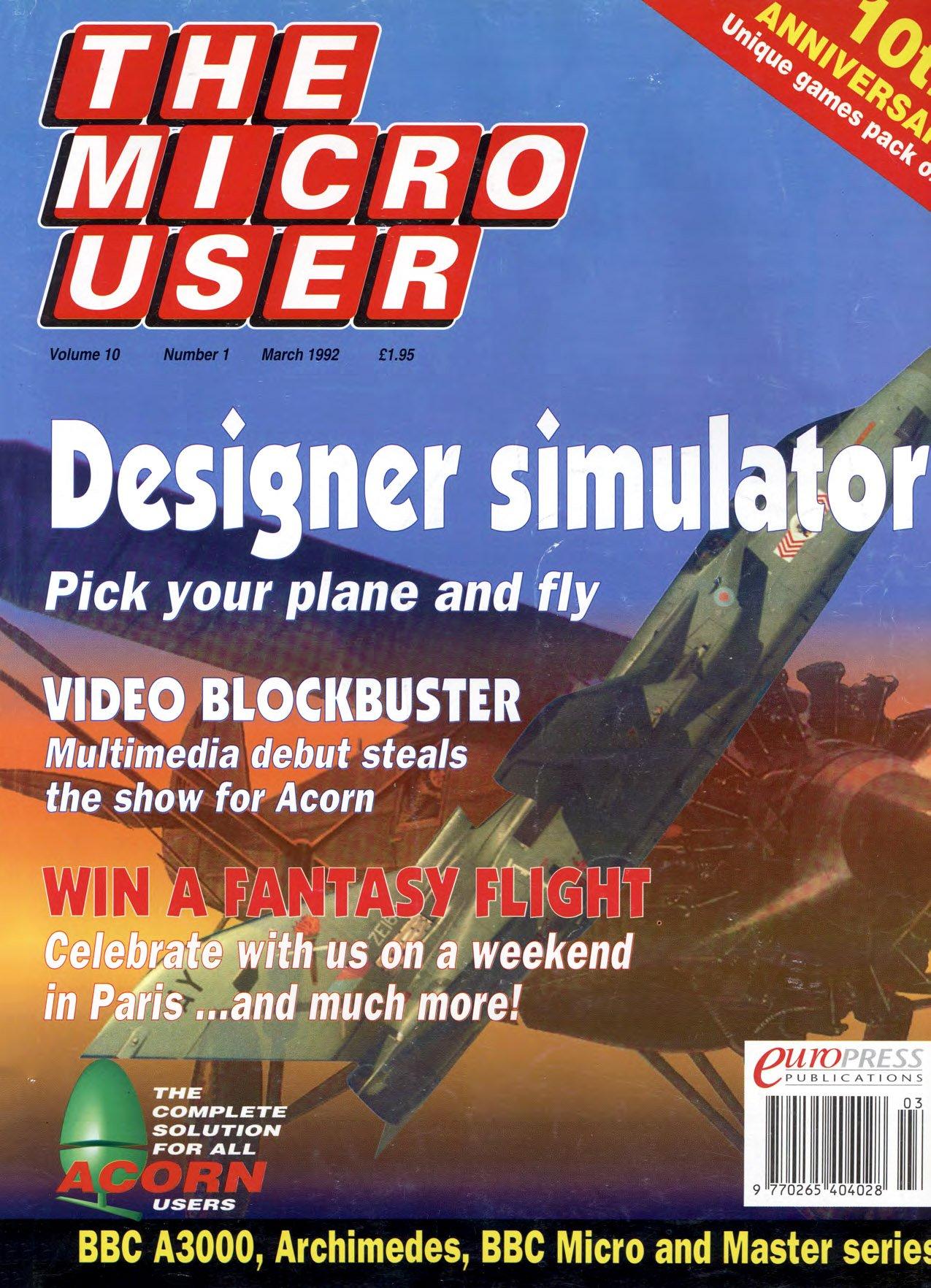 The Micro User Vol.10 No.01 (March 1992)