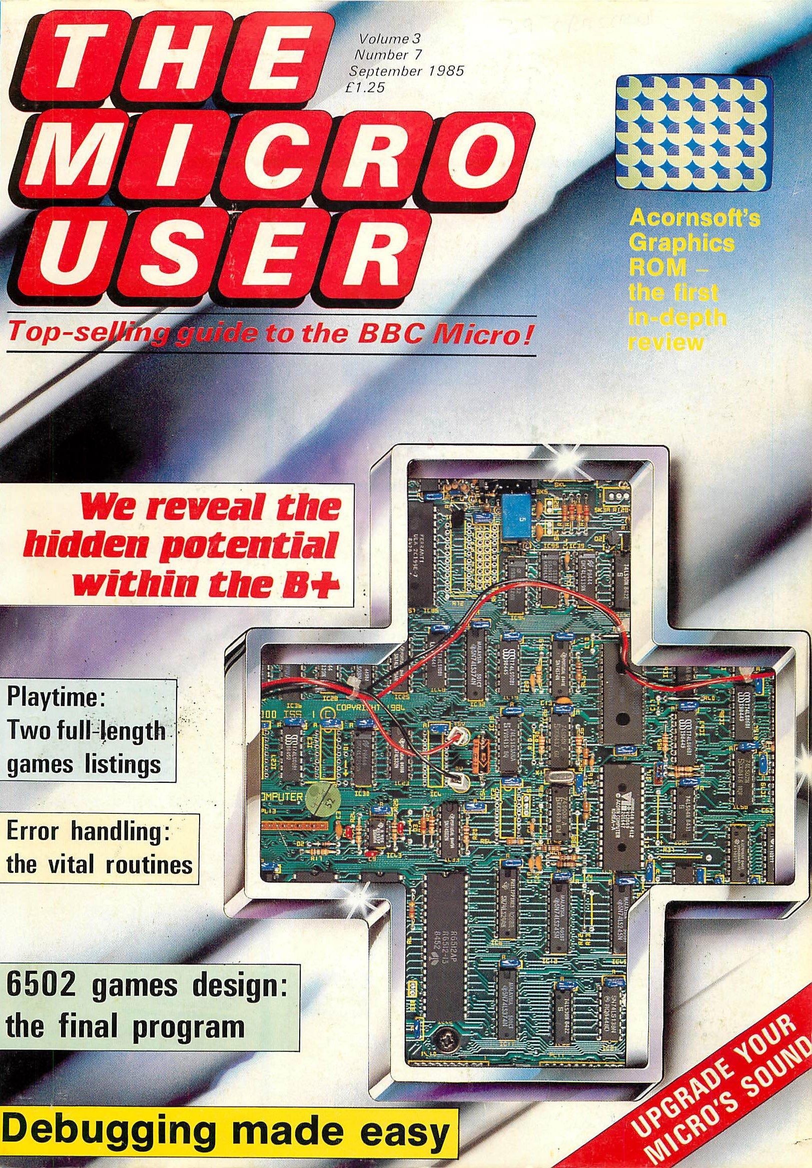 The Micro User Vol.03 No.07 (September 1985)