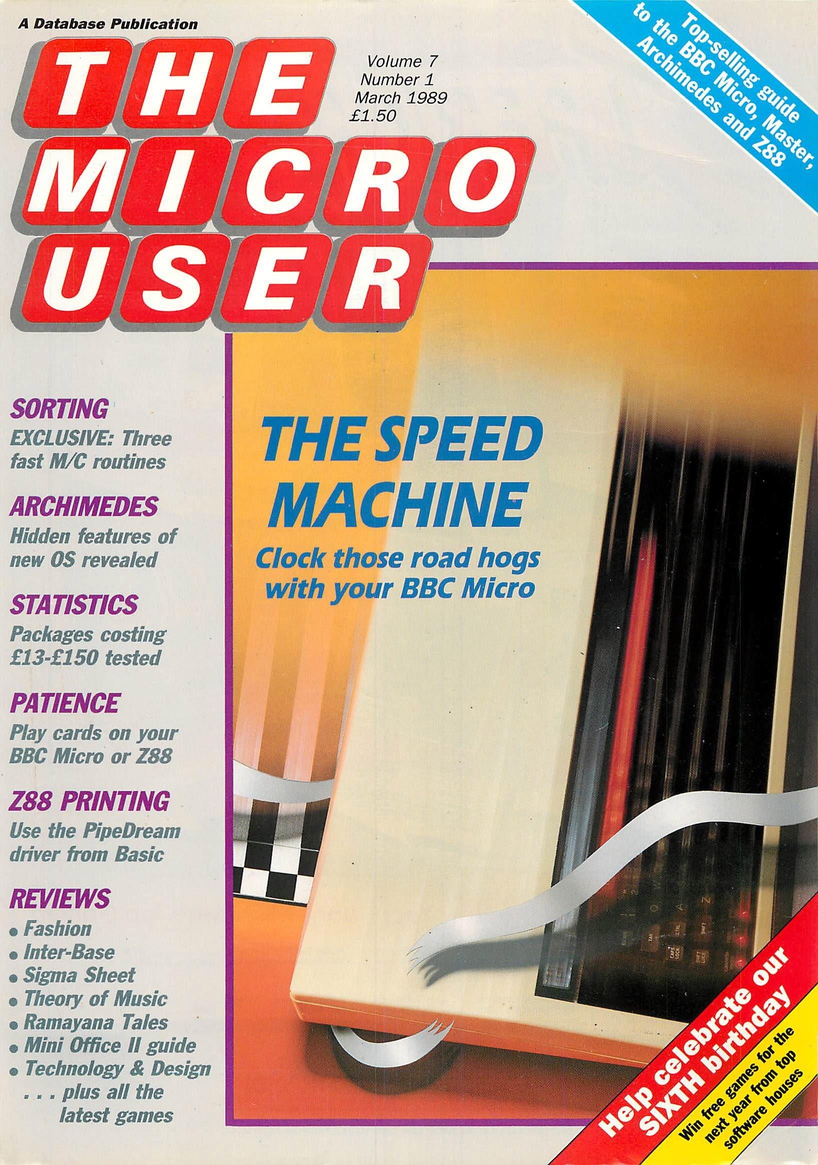 The Micro User Vol.07 No.01 (March 1989)