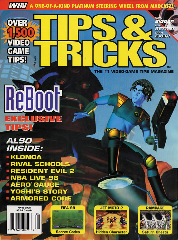 Tips & Tricks Issue 038 April 1998 Alternate Canada-only cover