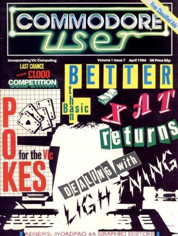 Commodore User Issue 07 (April 1984)