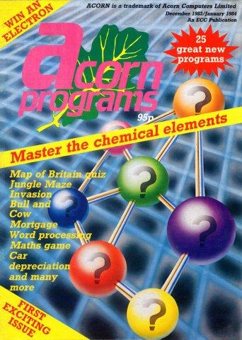 Acorn Programs 01 (December 1983/January 1984)