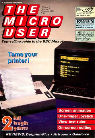 The Micro User Vol.04 No.09 (November 1986)